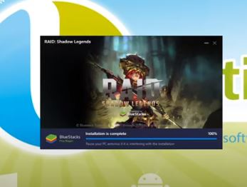 Open this application with bluestacks